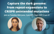 Webinar: Capture the dark genome – From repeat-expansions to CRISPR unintended mutations